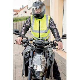 Gilet Motociclista ad alta visibilità EN ISO 20471:2013 + A1:2016, Oeko-Tex® Standard 100