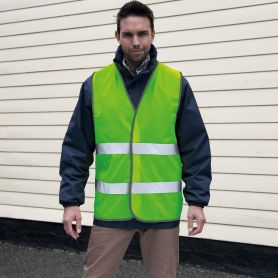 Vest high visibility, with safety strip from 50mm, Polyester, Unisex, Result
