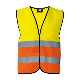 Vest high visibility, two-tone, EN ISO 20471:2013 + A1:By 2016, the Oeko-Tex® Standard 100