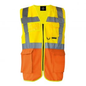 Vest two-tone multi-function, high-visibility stripes reflective 5 cm