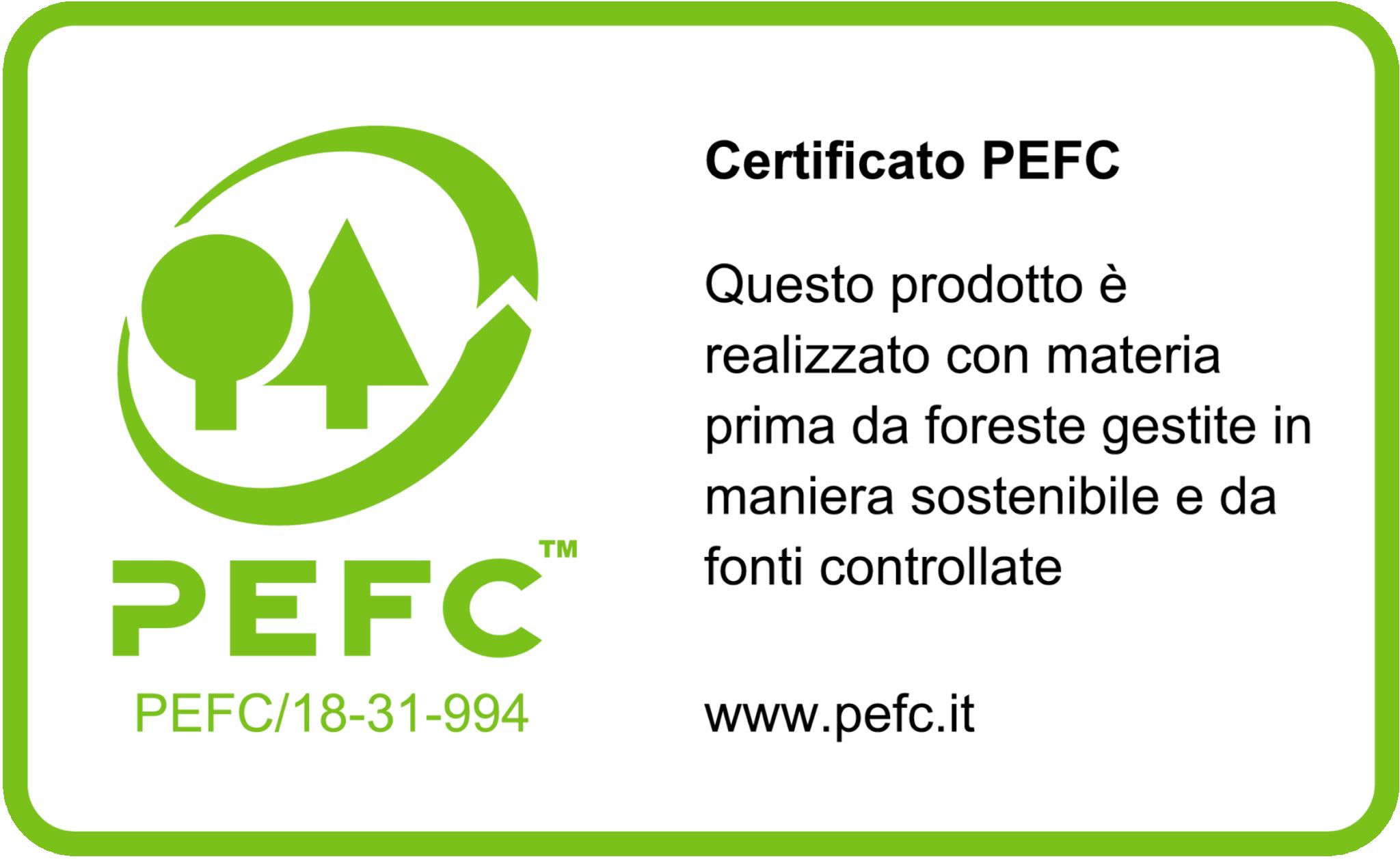 Certificato PEFC